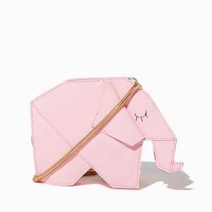 Charming Charlie NWOT Pink Origami Elephant Purse
